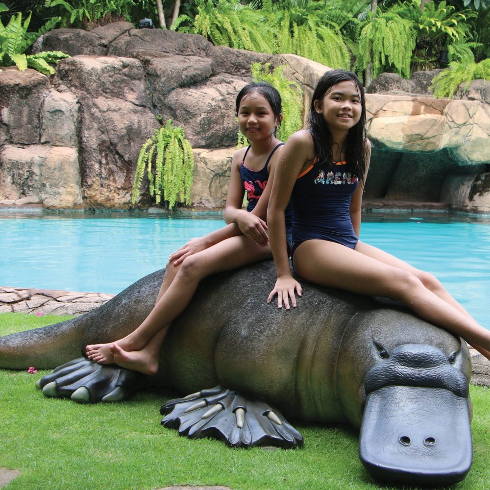 Mammals Larger than lifesize platypus