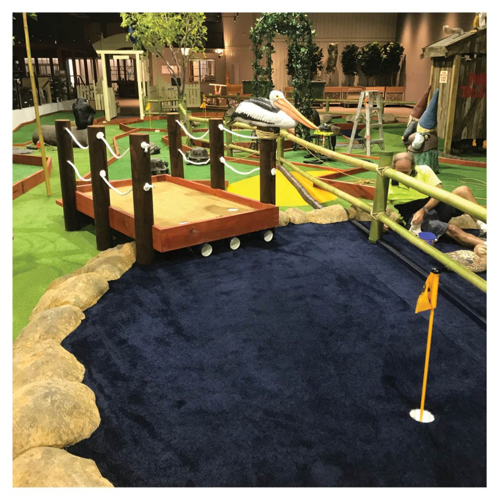 Mini Golf Theming Coomera Westfield Shopping Centre Ball Pelican Bridge Product Gallery  px px