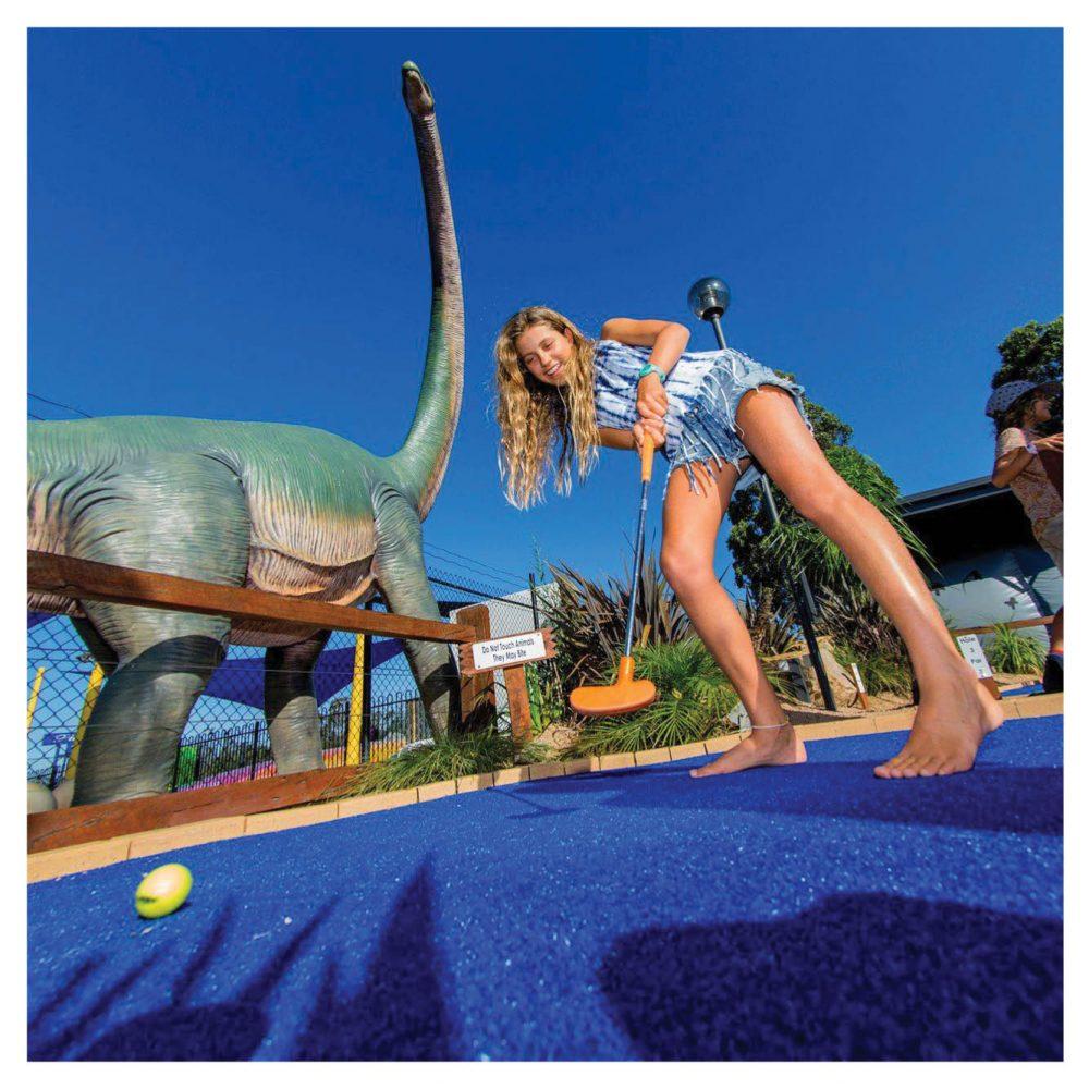 Mini Golf Theming Mini Golf Traralgon Big  Caravan Park Dinosaur Gallery  px px