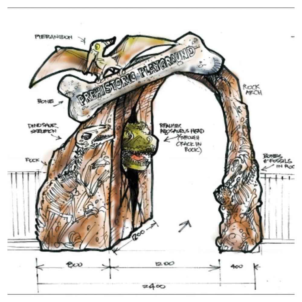 Mini Golf Theming Prehistoric Themed Mini Golf Chillasaurus Entry Arch Product Gallery  px px