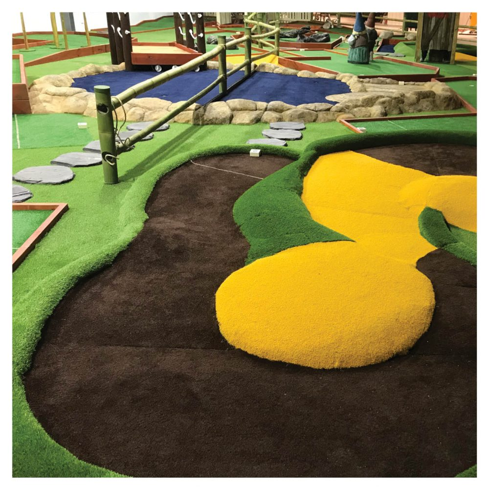 Mini Golf Theming Putt in the Park Coomera Westfield Shopping Centre grass edging Product Gallery  px px