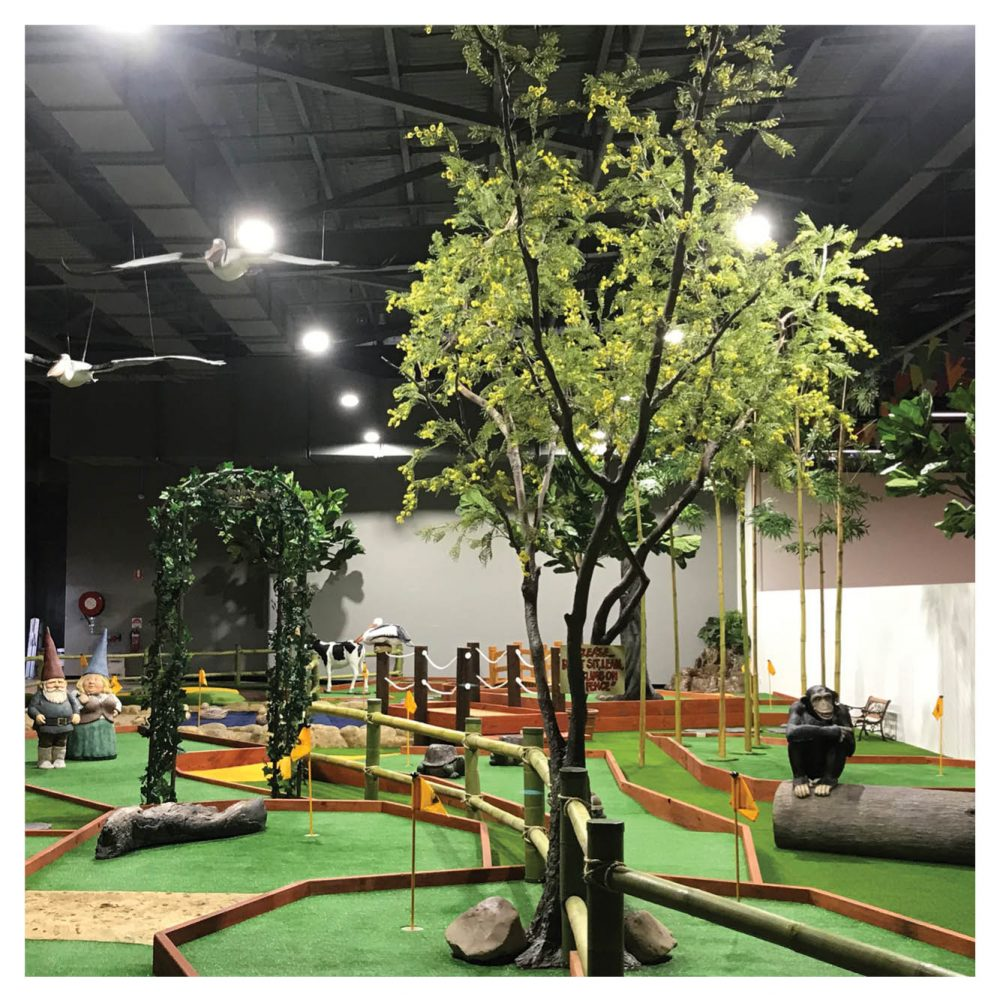 Mini Golf Theming Putt in the Park Coomera Westfield Shopping Centre tree Product Gallery  px px