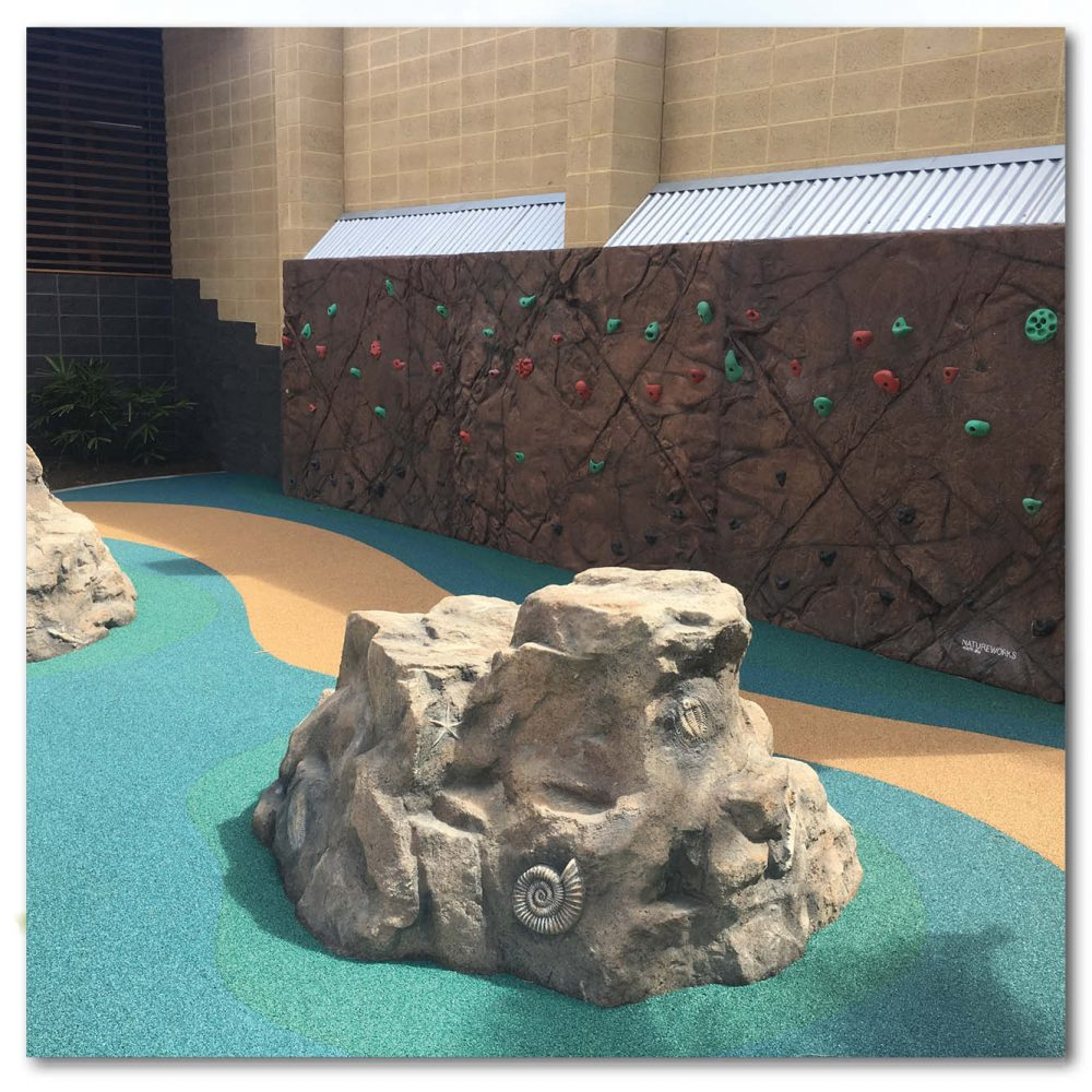 Playground Theming Artificial Rock Climbers Marine Rock with fossils Product Image  px px