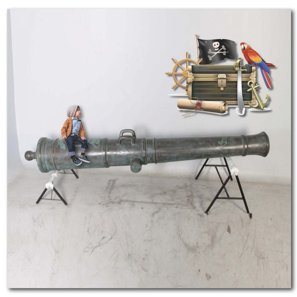 Playground Theming Pirate Play Cannon Cart Set Product Image  px px