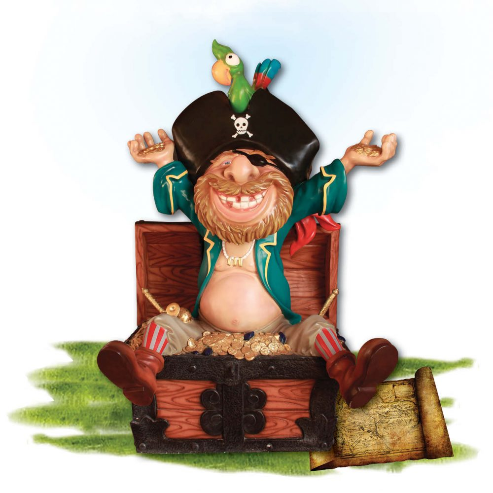 Playground Theming Pirate Play Pirate in Treature Chest Product Image  px px