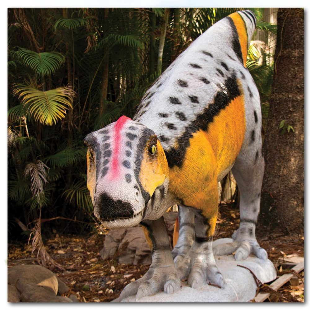 Playground Theming Prehistoric Play Rosewood Raptor Front view Product Image  px px