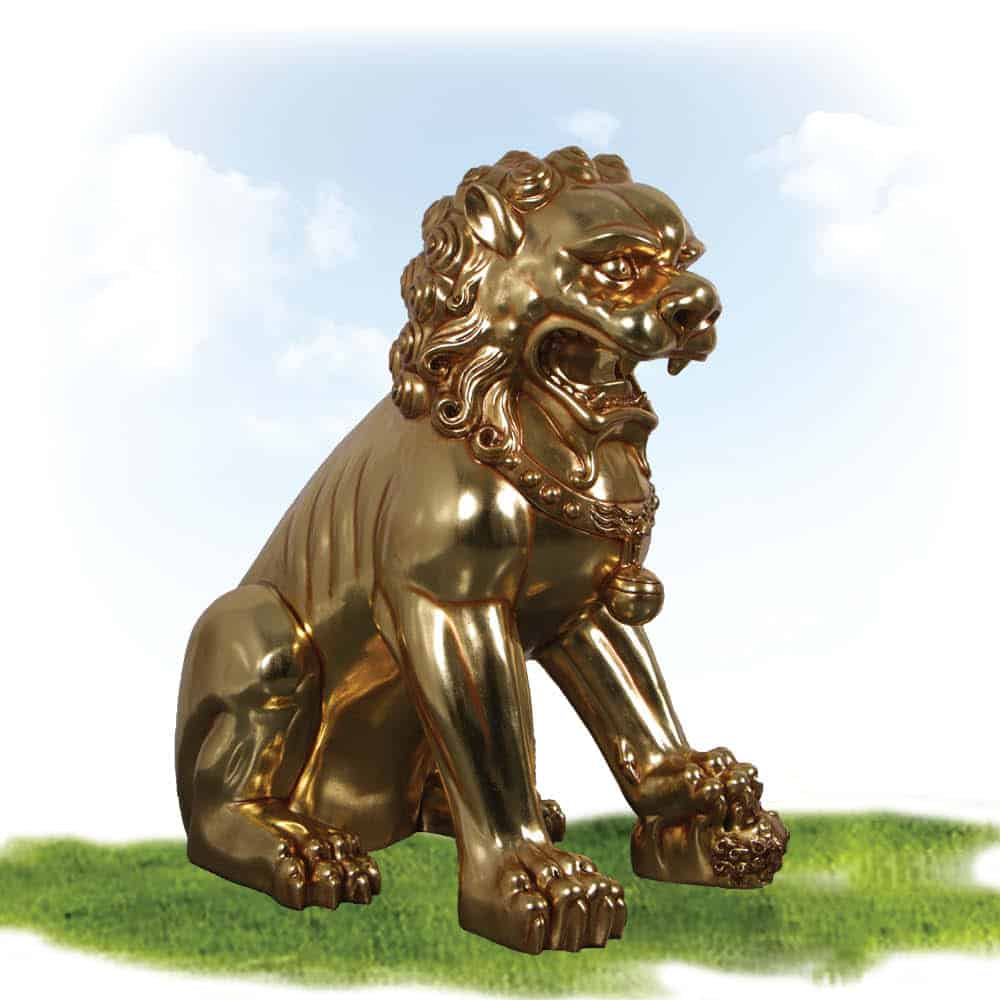 Foo Dog sculpture Female - larger than life-size sculpture