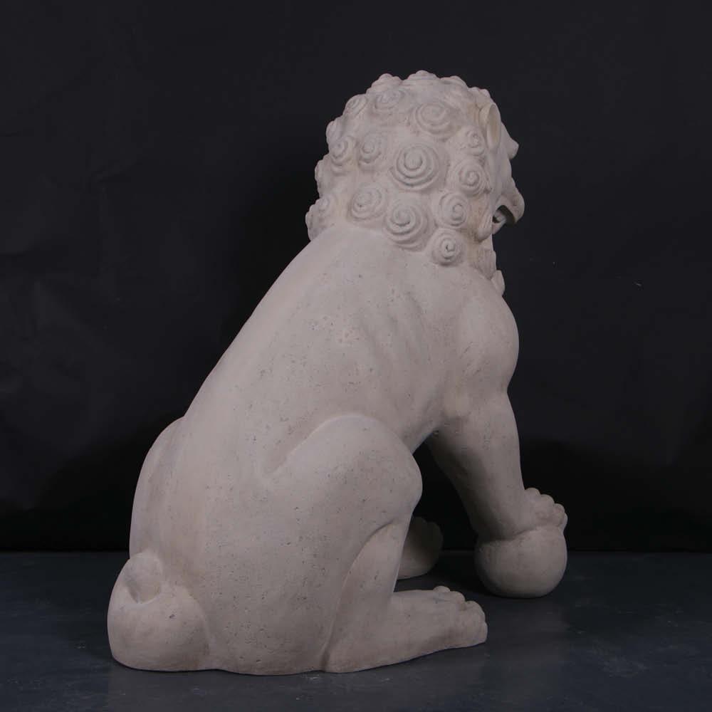 Foo Dog - Giant sculpture, Roman Stone Finish photo