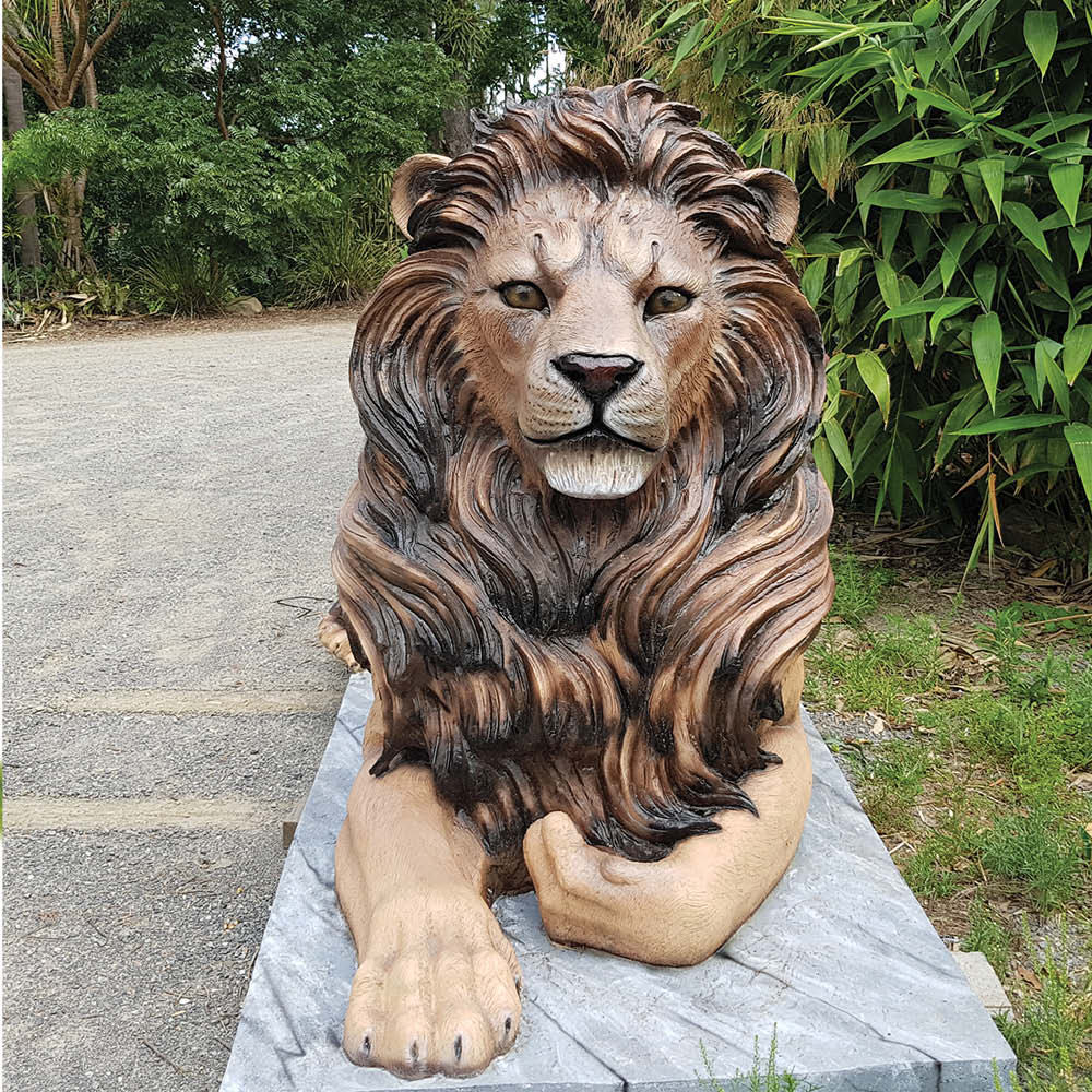 Lion Resting Magestic Castle  Natural  outside View