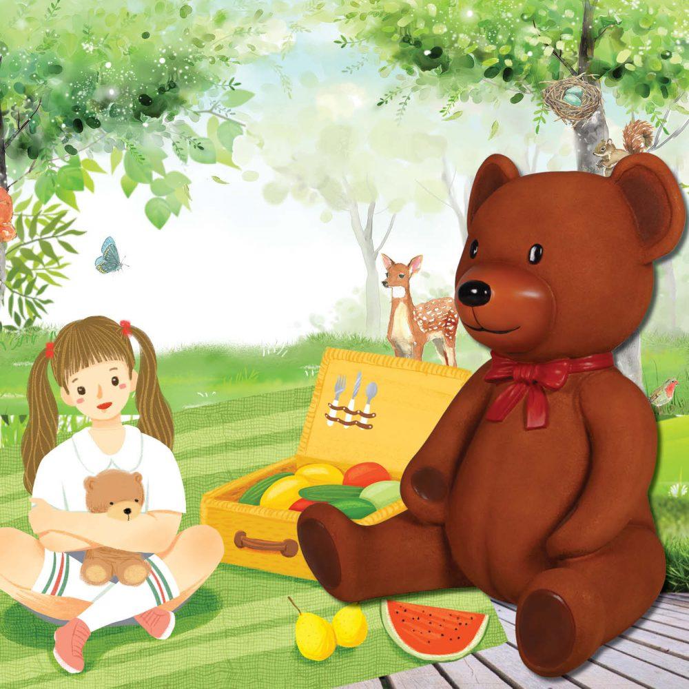 Teddy Bear sitting - 3ft