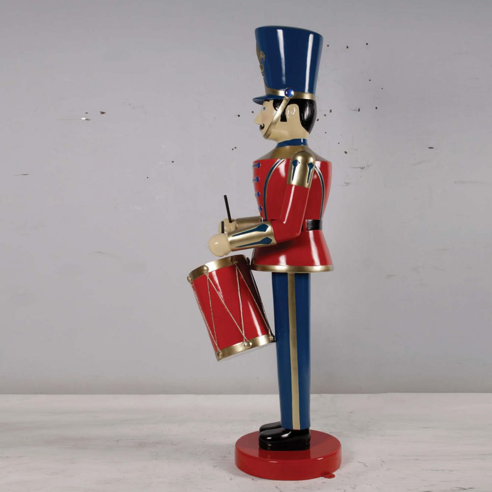 Christmas Toy Soldier with Drum - 6ft - Blue & Red - Christmas display prop