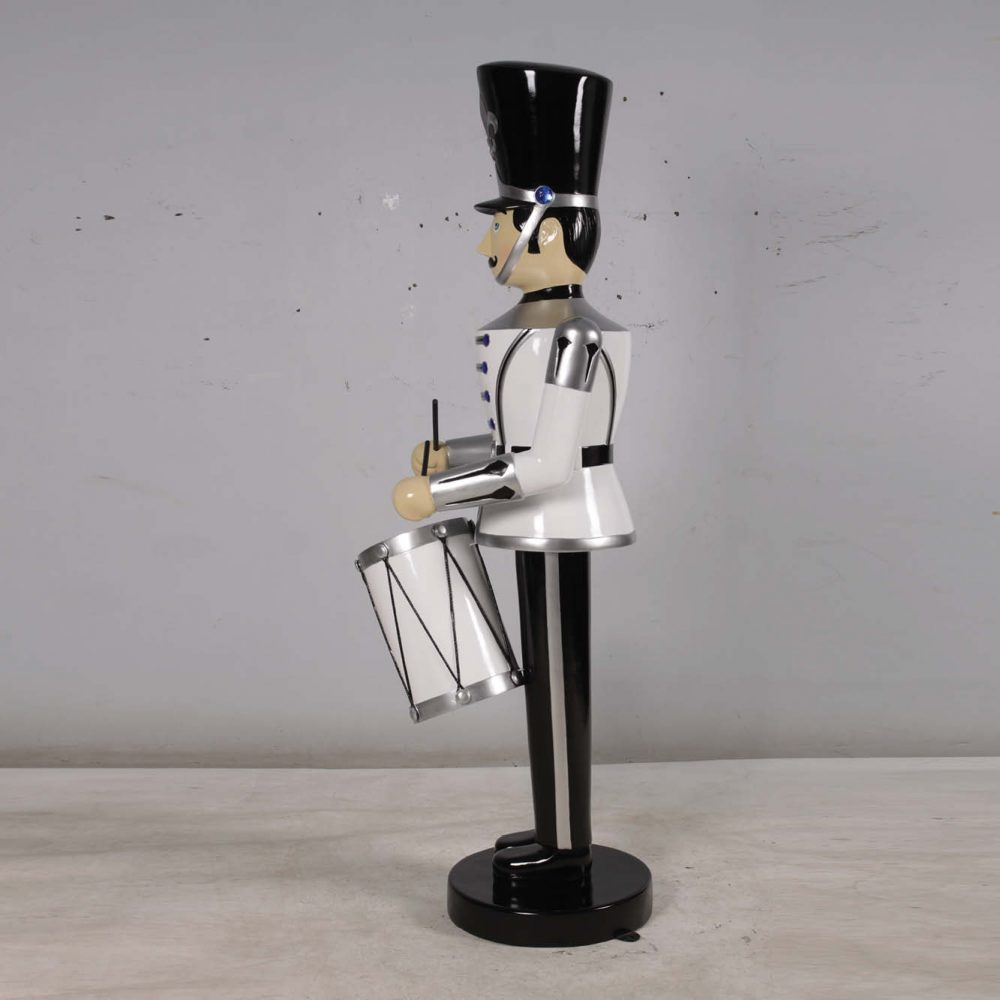 Toy Soldier with Drum - 6ft - Silver & Black Version -photo