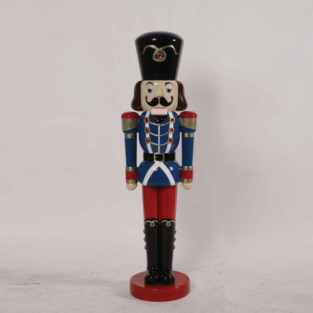 Nutcracker Soldier- 4ft Blue & Red - Christmas prop