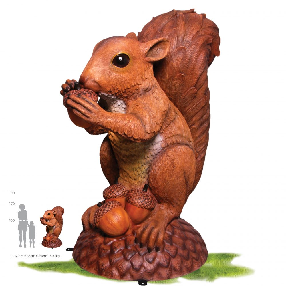 #150347 – Wirral the Enormous squirrel statue - front view