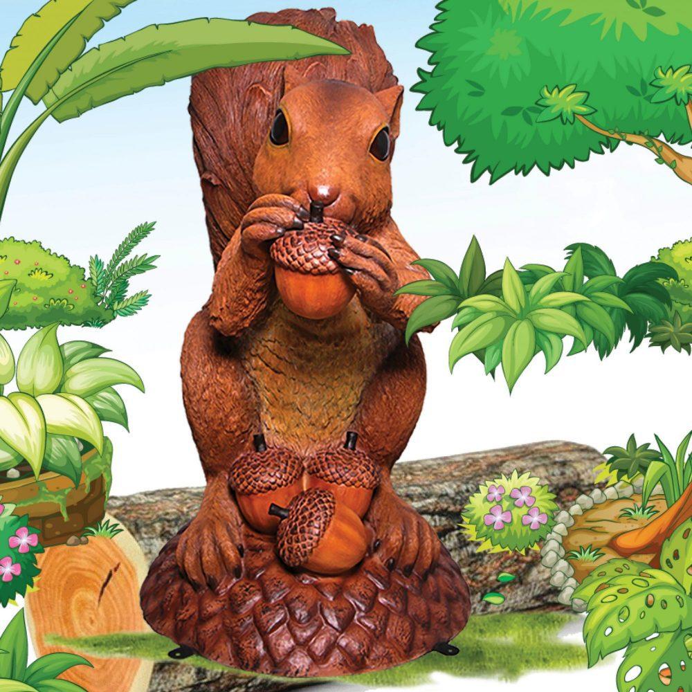 Enormous squirrel statue