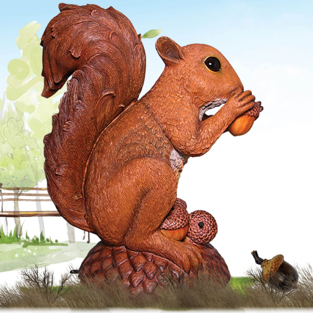 #150347 – Wirral the Enormous squirrel statue - side view
