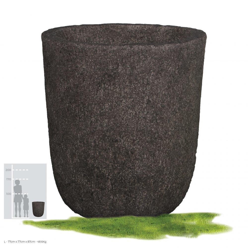 #190183 - Stone Planter -Whitestone texture finish- Image 1