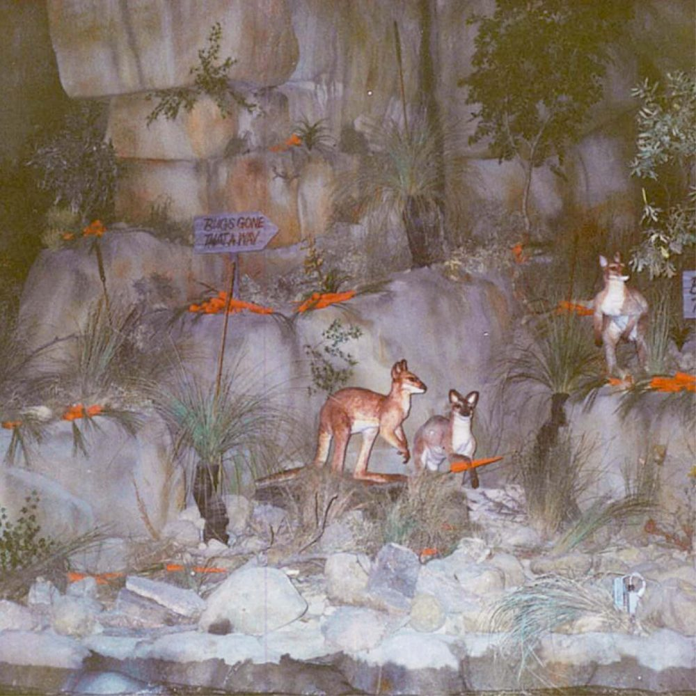Movie World Looney Tunes Boat Ride Cave showing Exhibit Bugs gone that way scaled