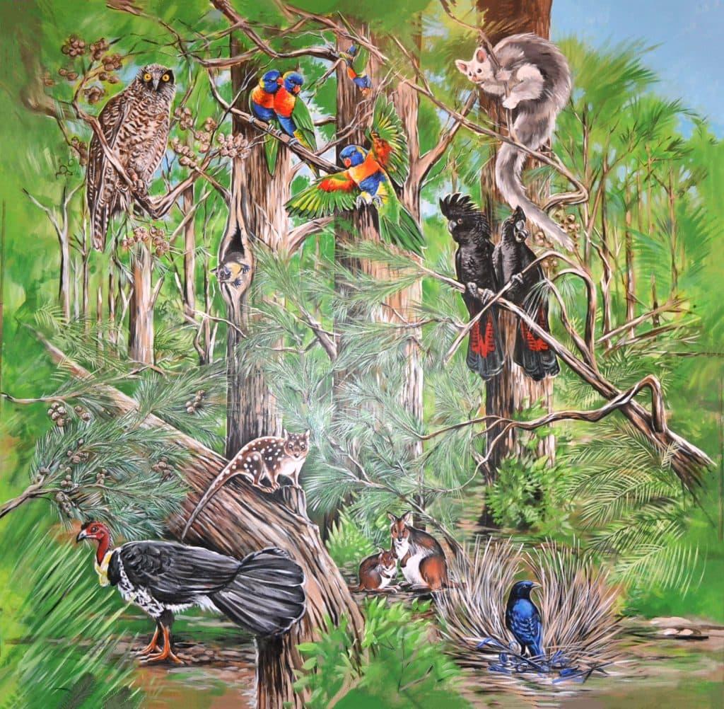 Mural - birds