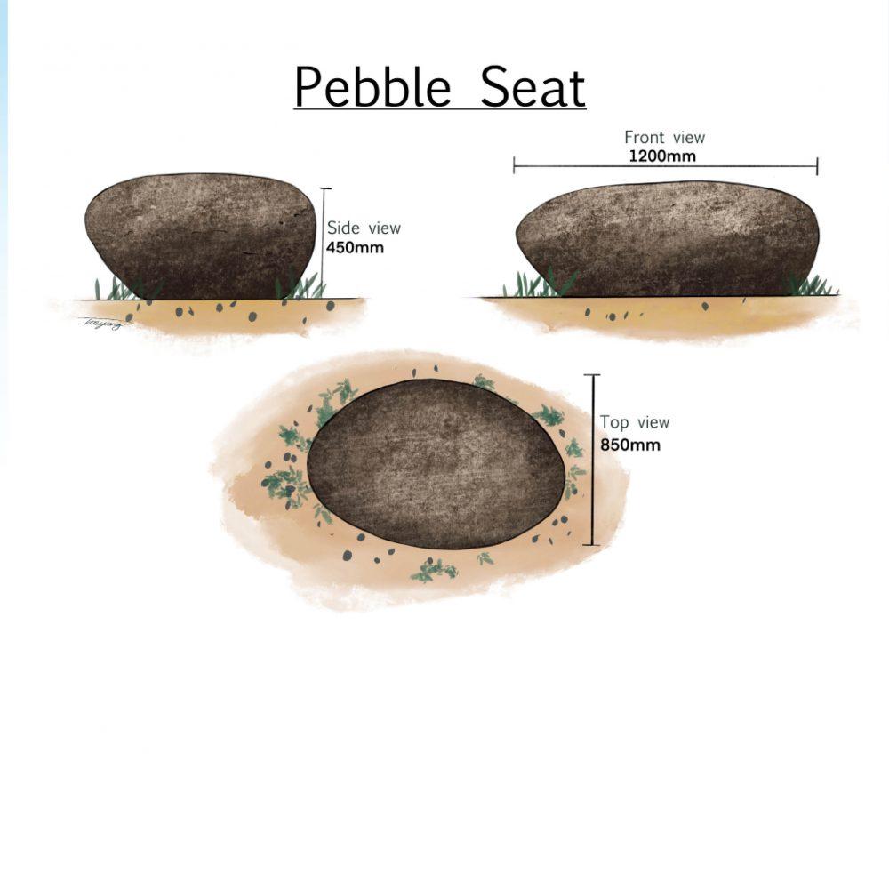 Pebble Rock Seat - Giant custom designed
