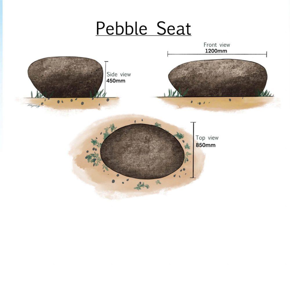 PebbleRockSeat Giantcustomdesigned
