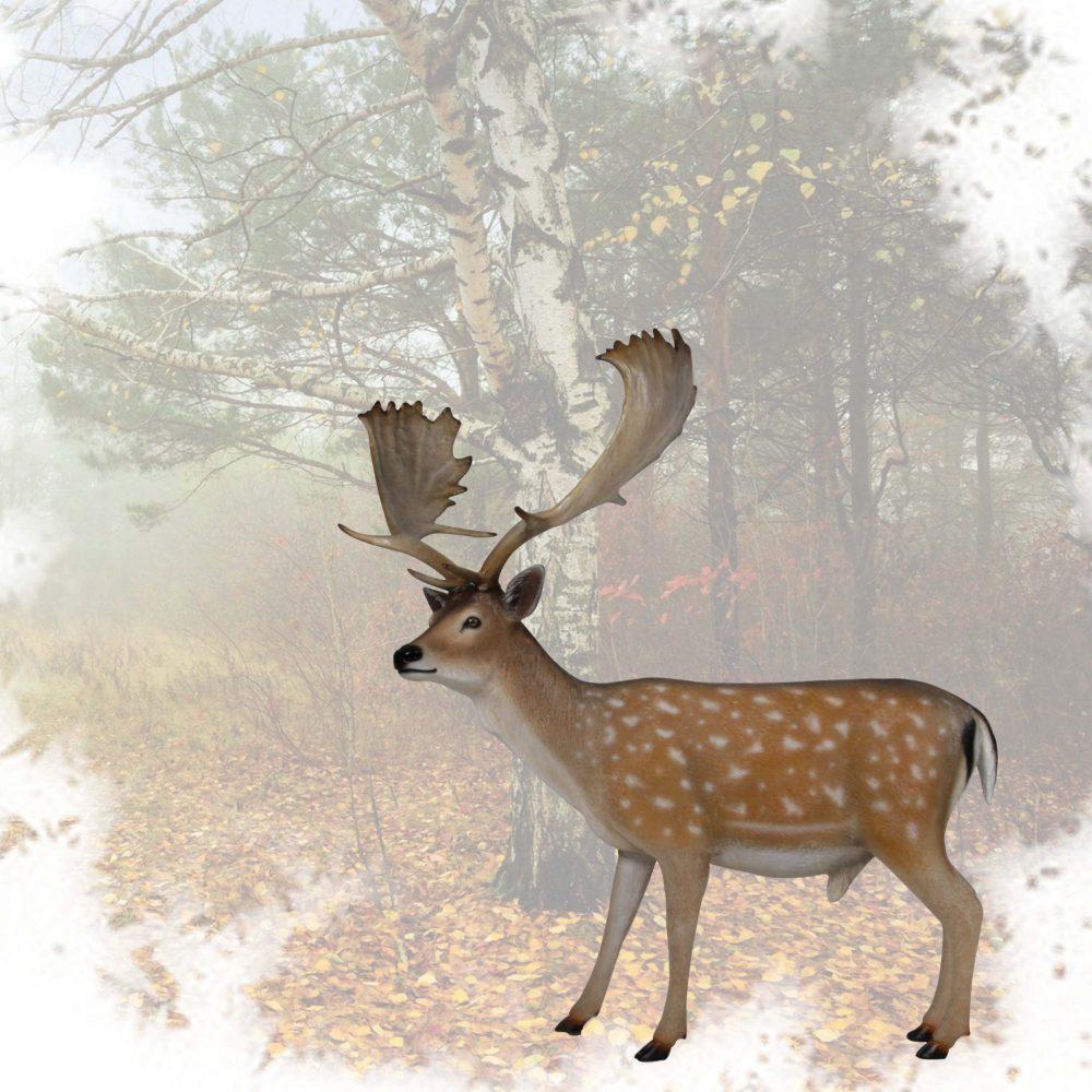 Deer - Fallow - Buck - life-size sculpture