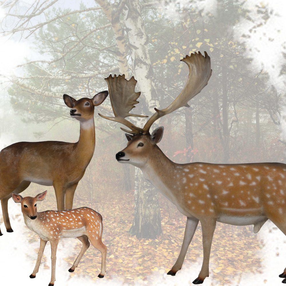 Deer fallow - sculpture of a buck for sale