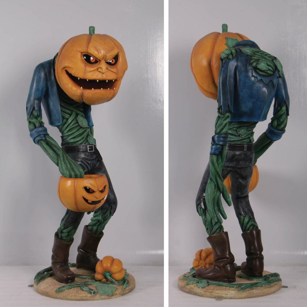 Scary Pumpkin Man with Candy Holder – 200009- photo