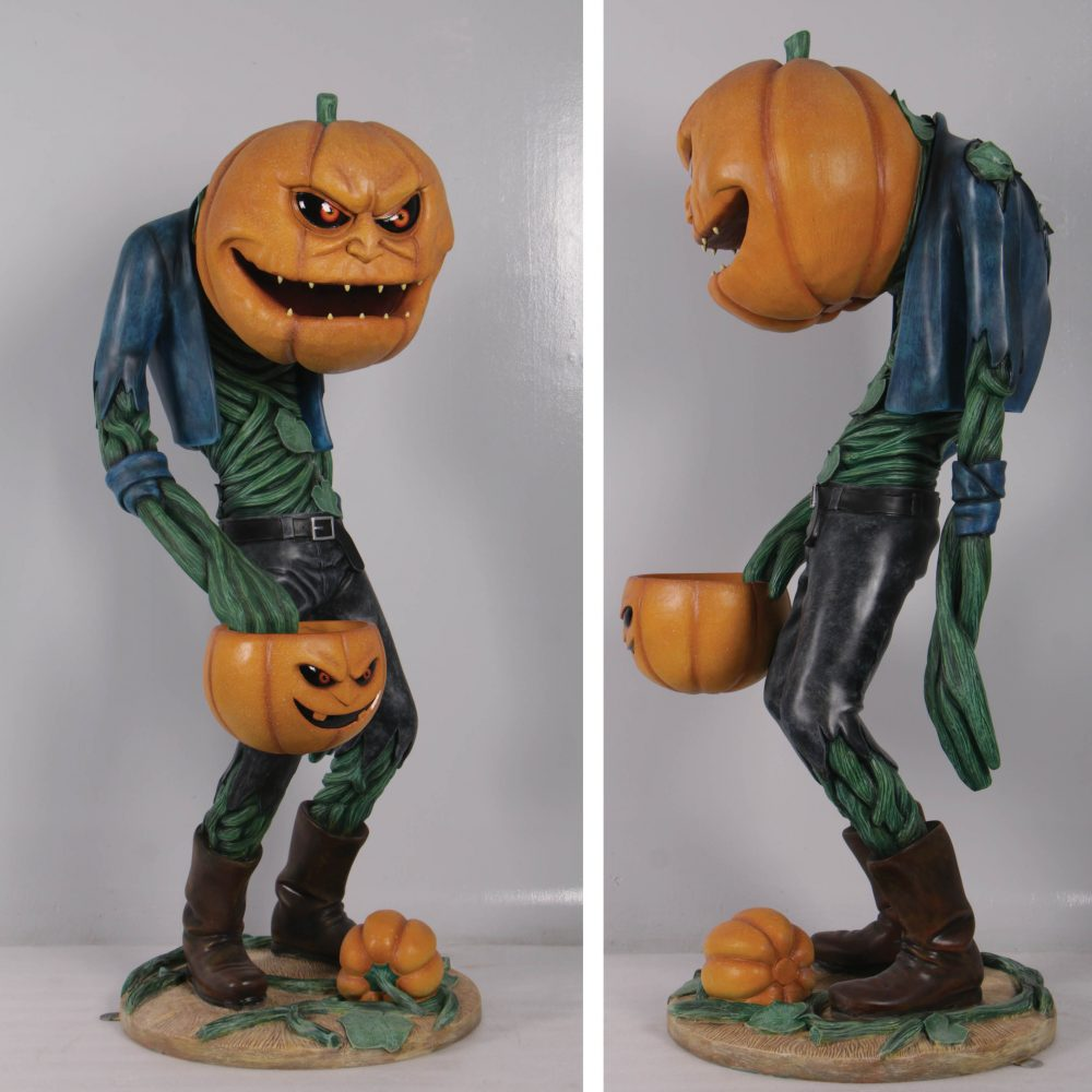 Scary Pumpkin Man with Candy Holder – 200009- prop for sale