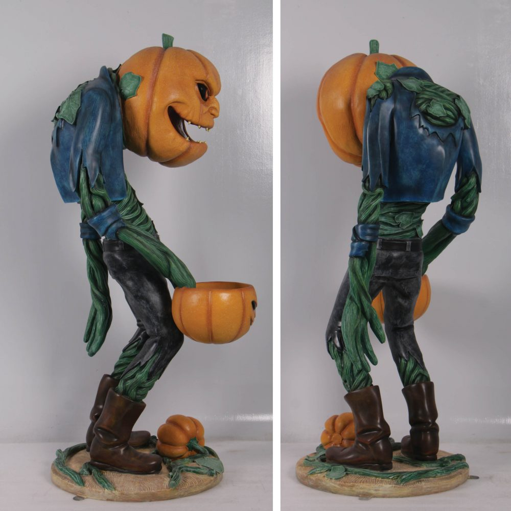 Scary Pumpkin Man with Candy Holder – 200009 photo
