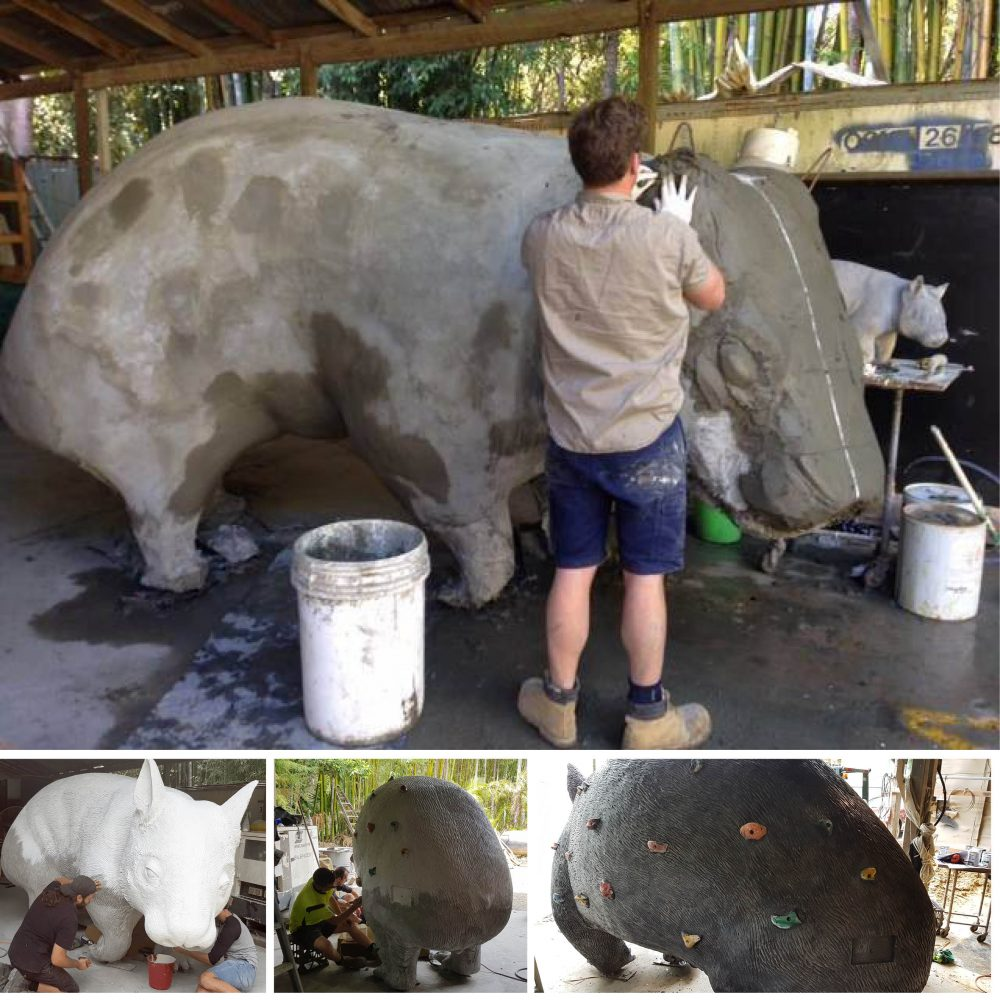 Giant Wombat - captures the heart of the community in the town of Thallon