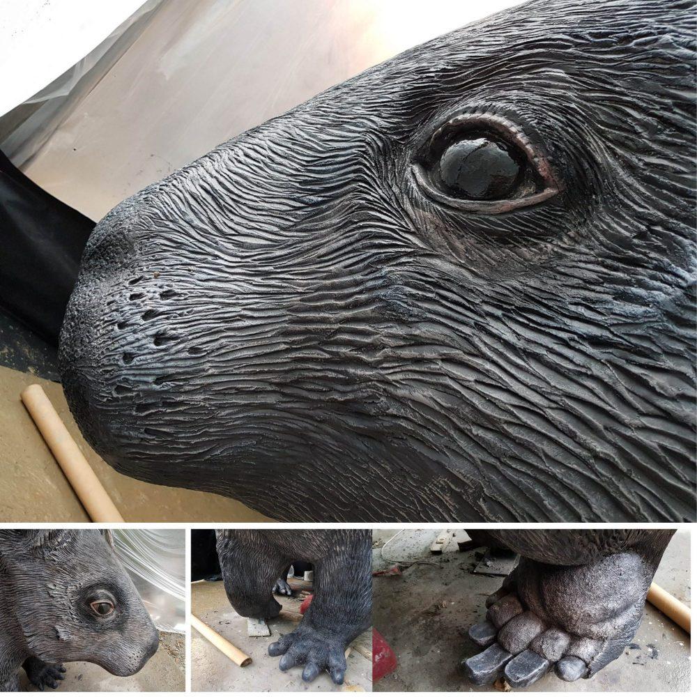 Giant Wombat playground sculpture