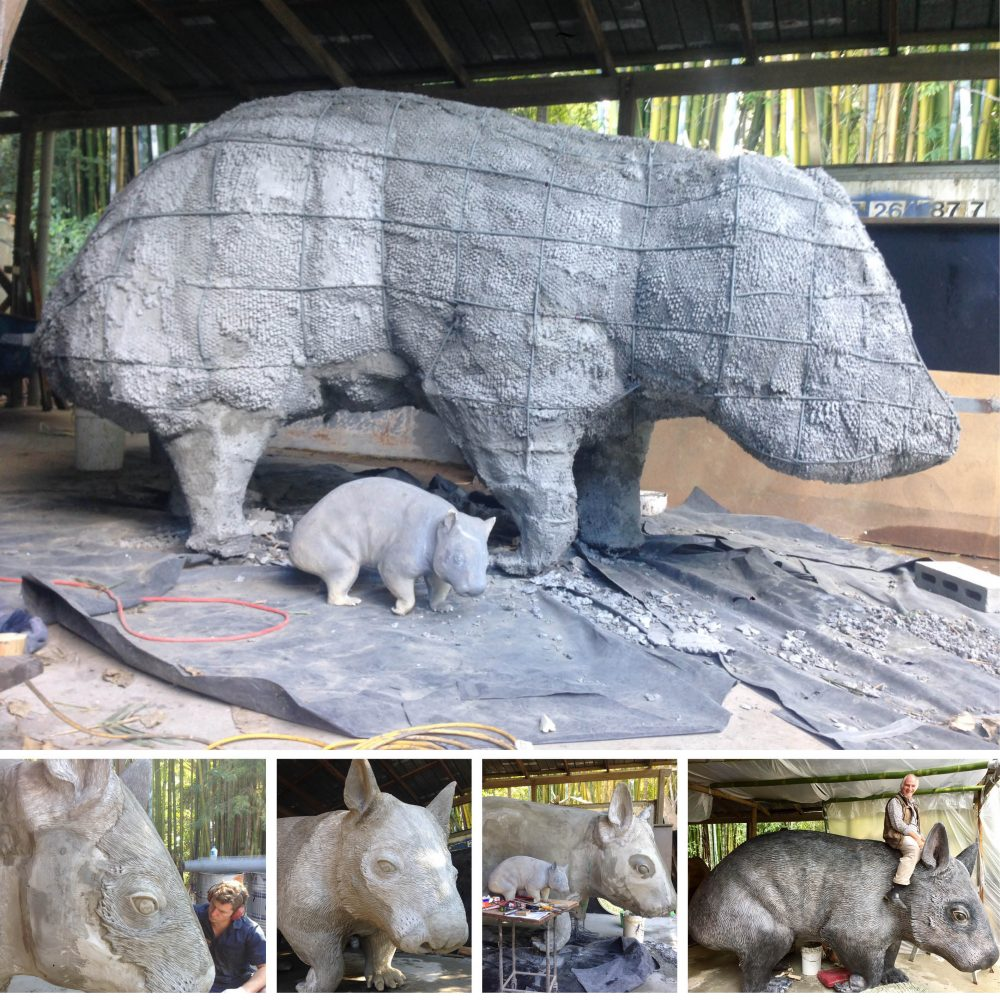 """""""William the wombat"""" playground sculpture - in production"""