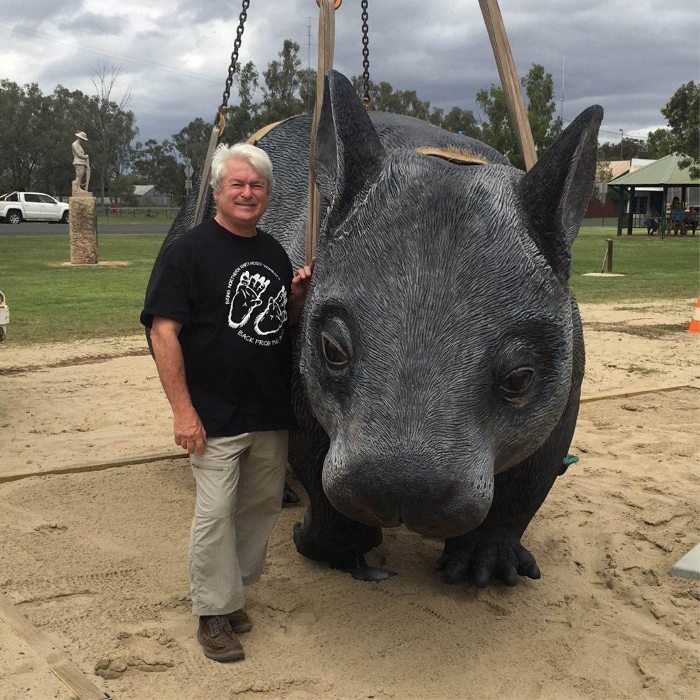 """William the wombat"" - playground sculpture"