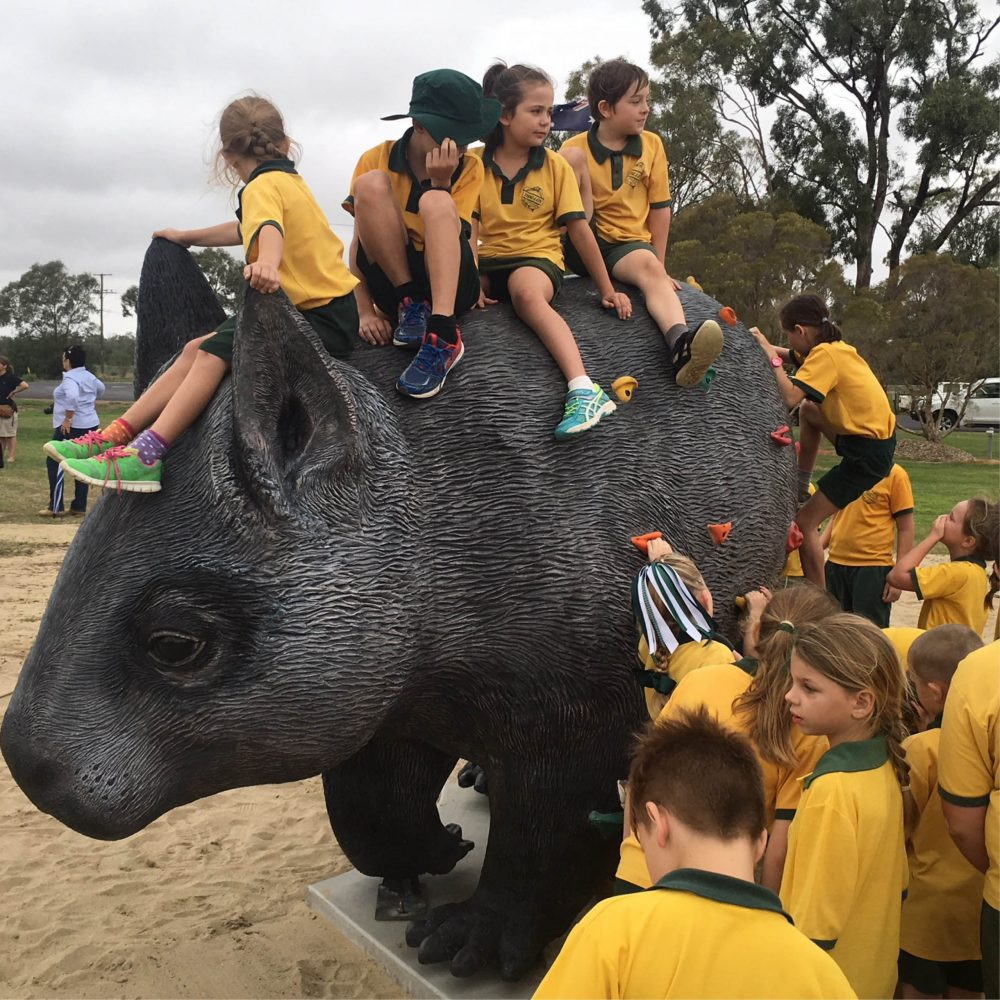 William the hairy nosed wombat with kids