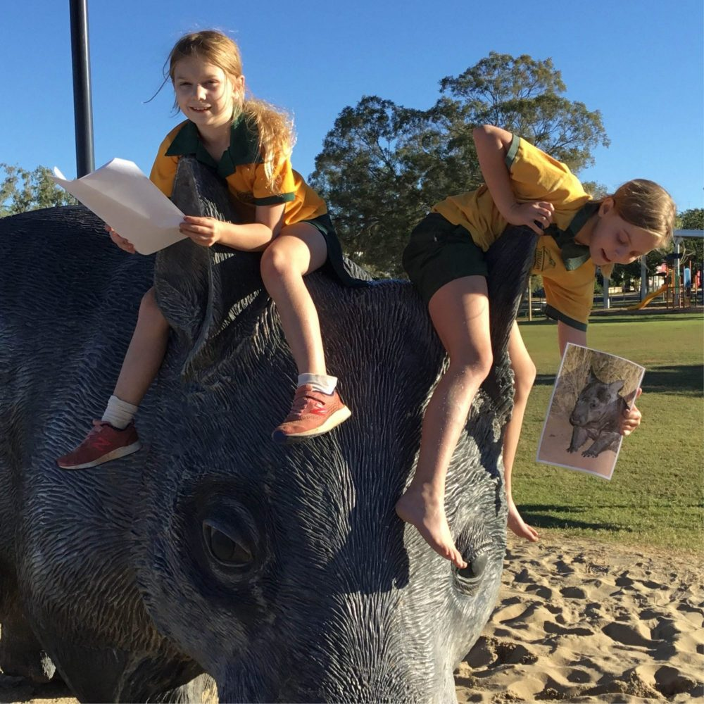 William the wombat giant sculpture has been a very popular addition to the local playground.