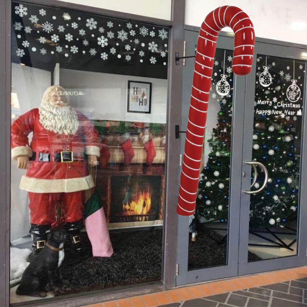 Candy Cane - 114cm Red with White Stripe