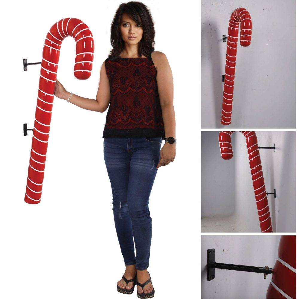Candy Cane - 114cm Red with White Stripe_Various Views