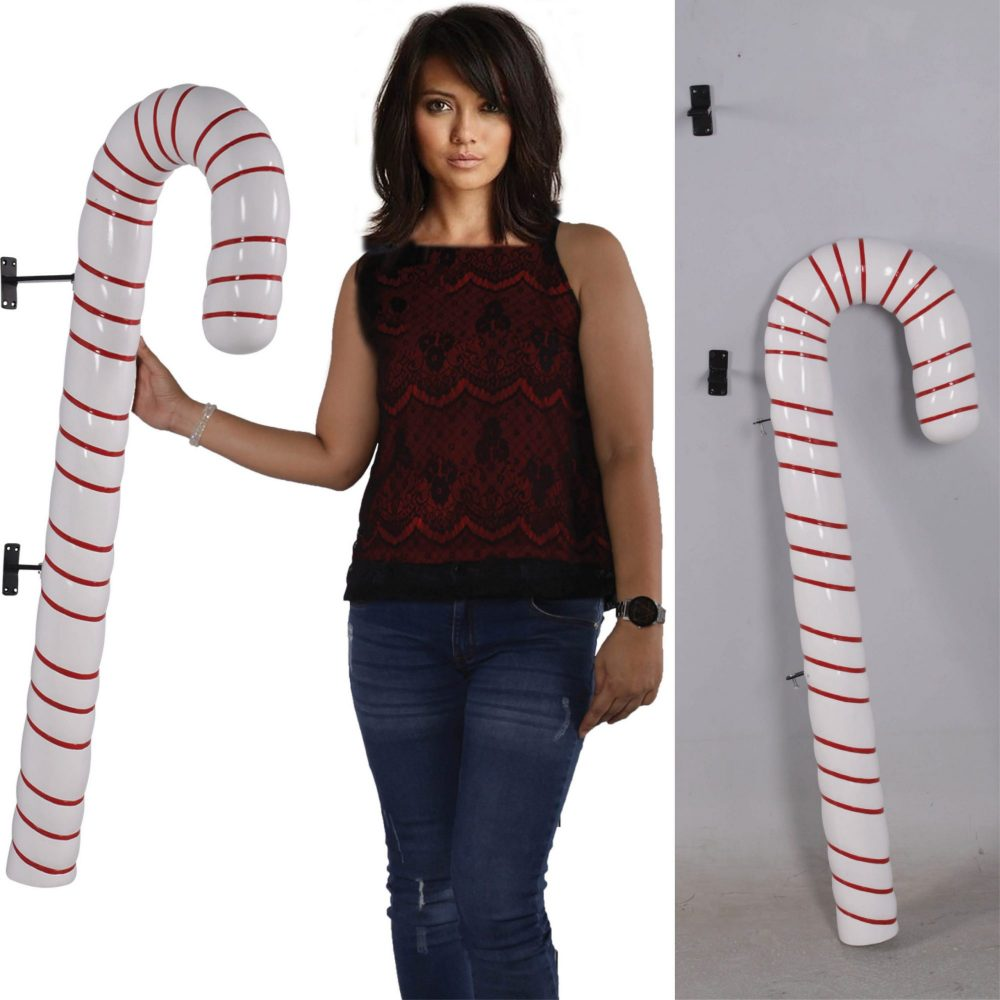 Candy Cane - 114cm White with Red Stripe_Various Views