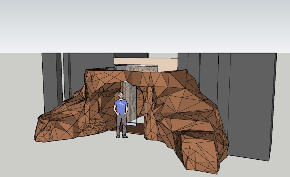 CAD drawing for cave