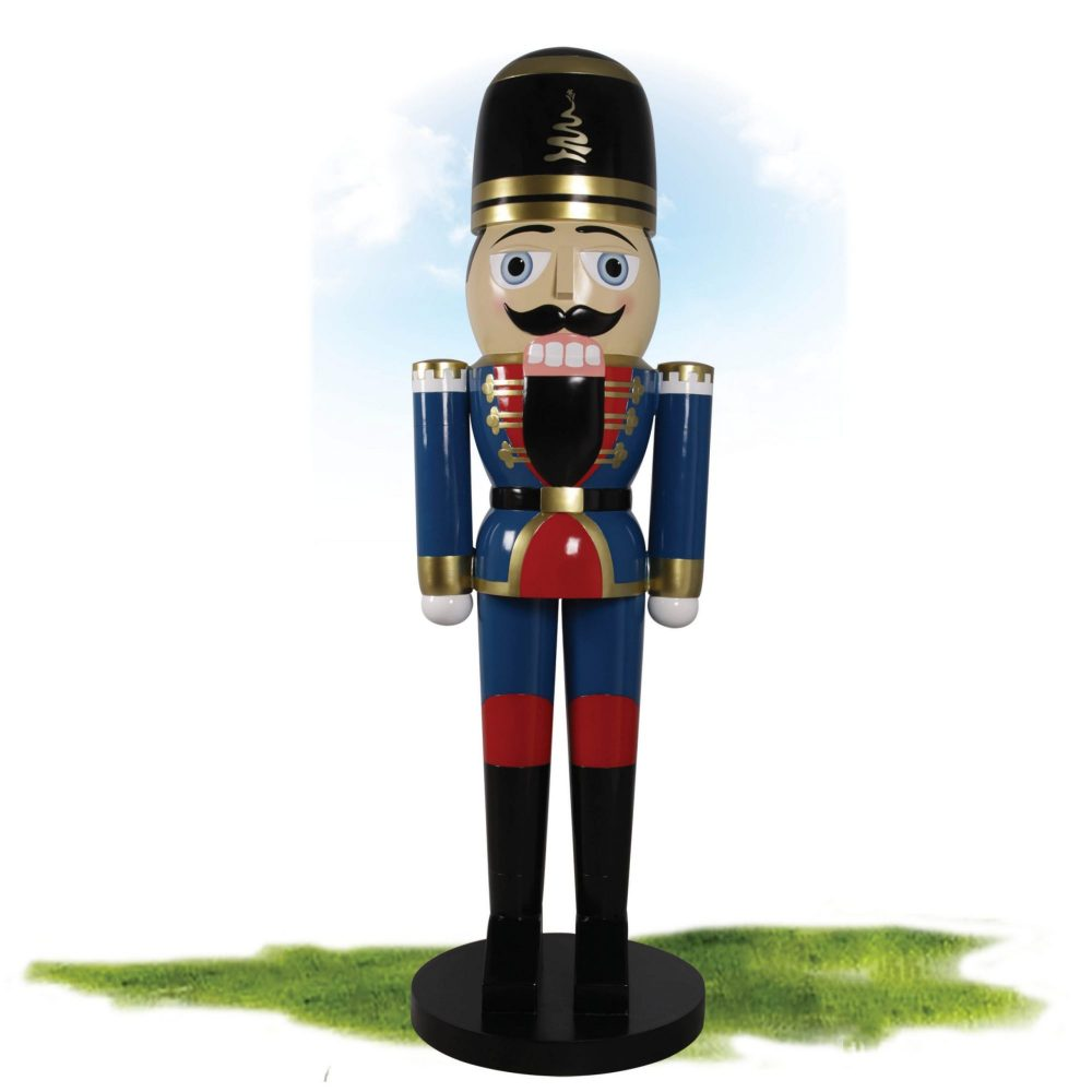Nutcracker Guard stands 8ft tall – BLUE - Fantastic traditional Christmas decoration