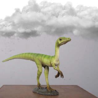 Compsognathus Dinosaur   Rear View Image