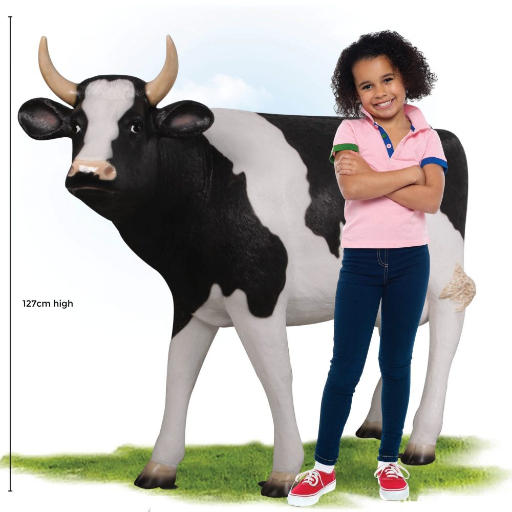 Cow Standing - Friesian 45inch - with young girl