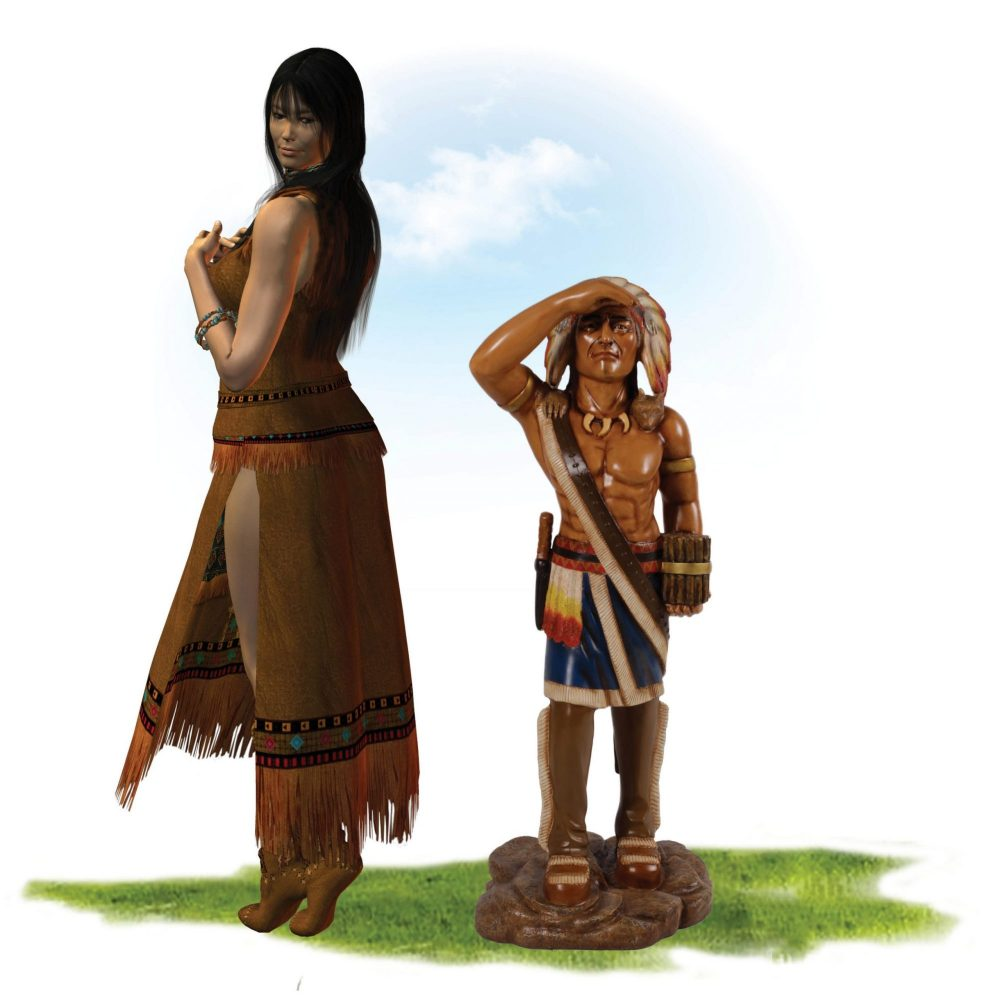American native tobacco Indian statue – traditional shop signage