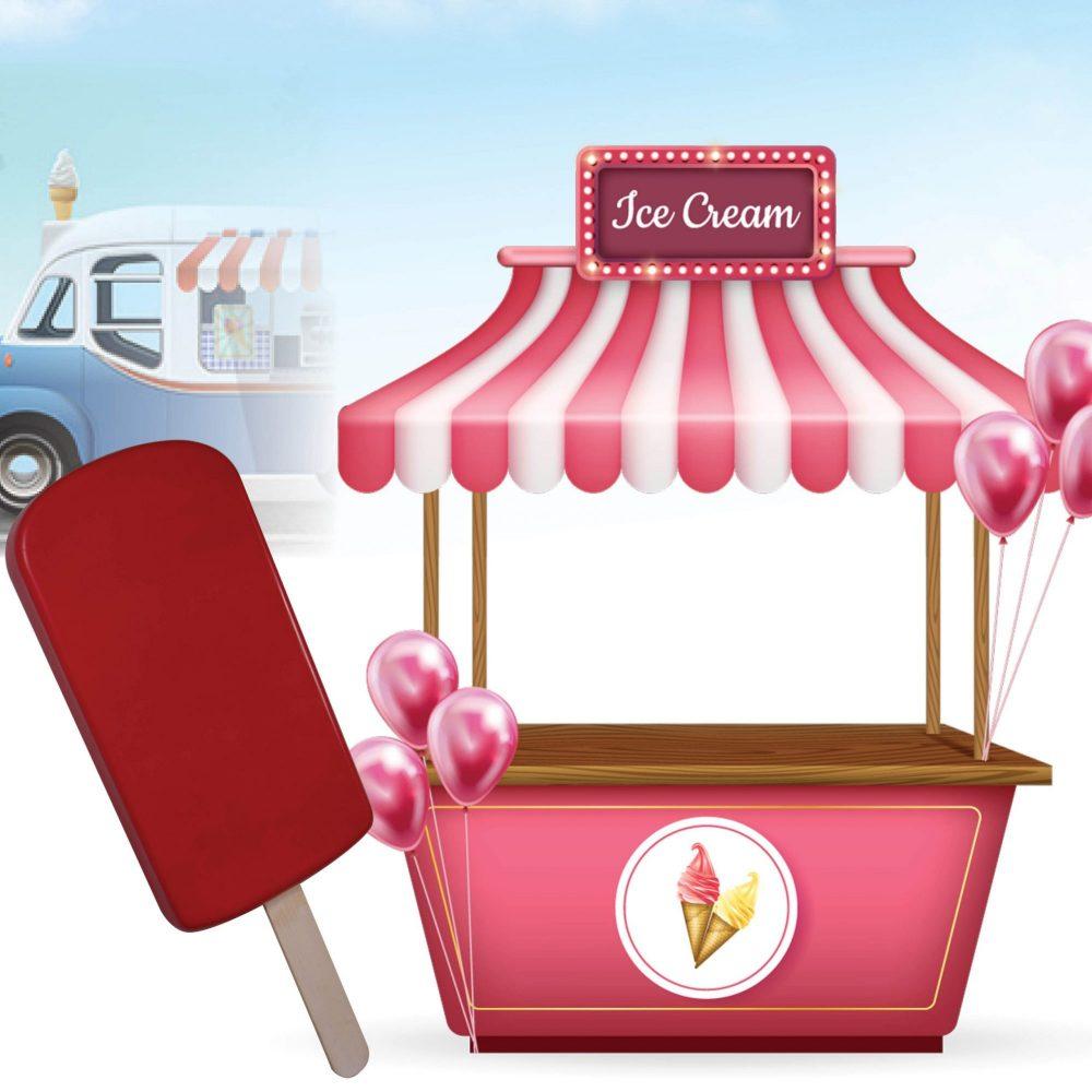 Ice Cream Popscile 6ft - Strawberry - Wall Decor