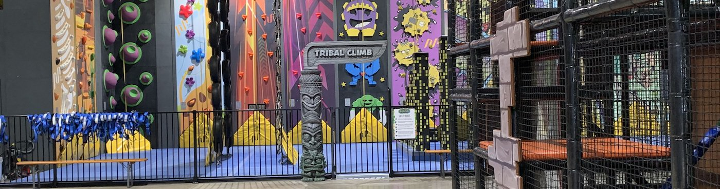 Jungle themed play area
