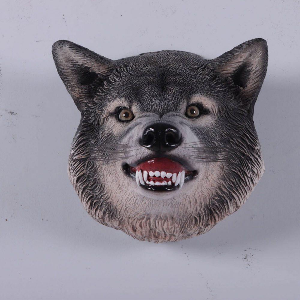 Wolf Head - Grey- Wall Decor