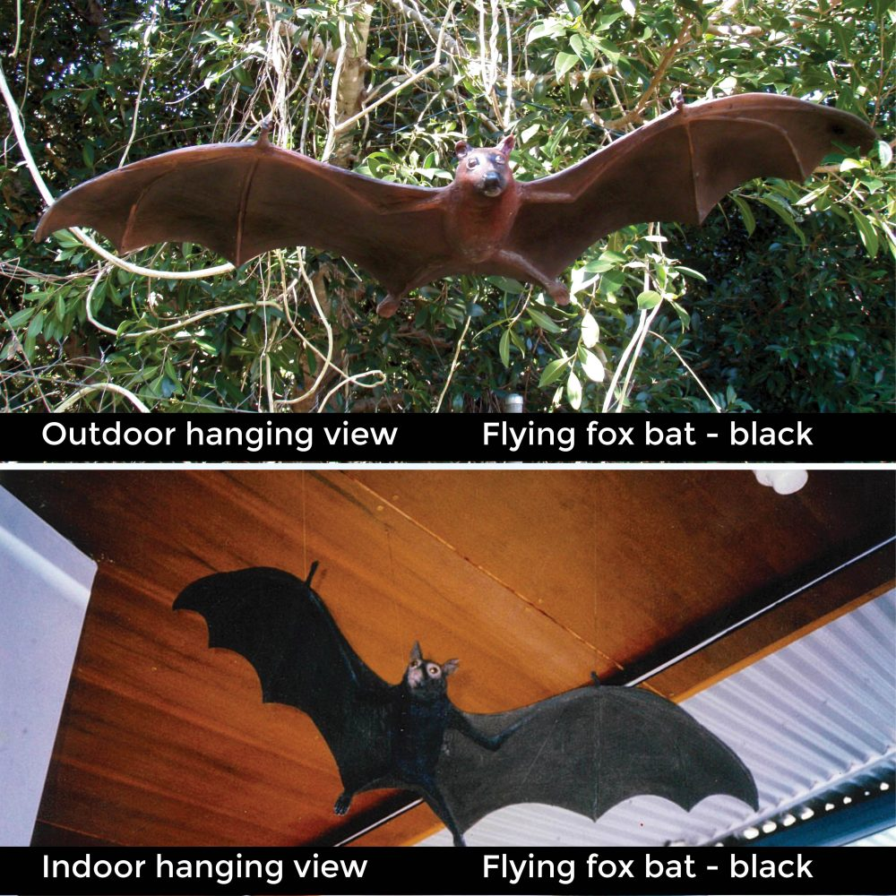 Fibreglass replica of a flying fox bat