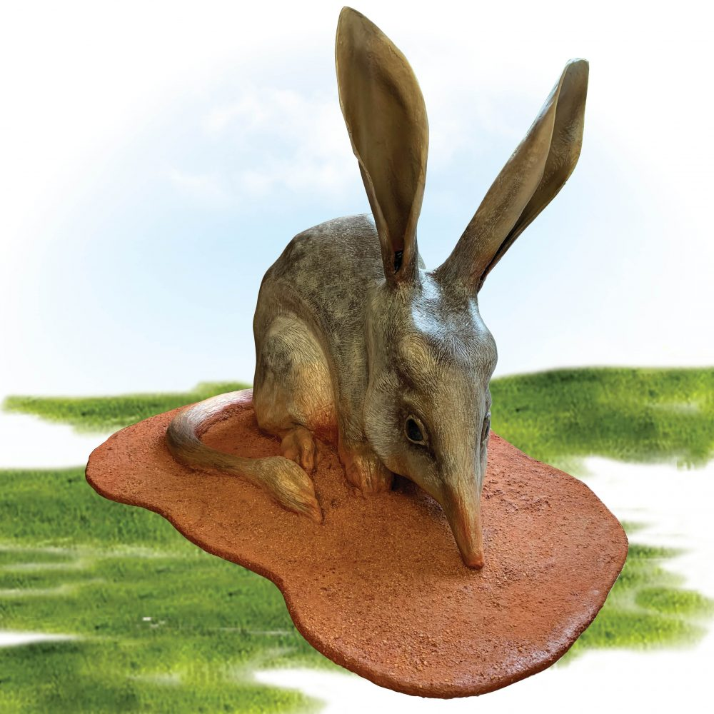 Bilby larger than life-size on base plate_Sydney Zoo