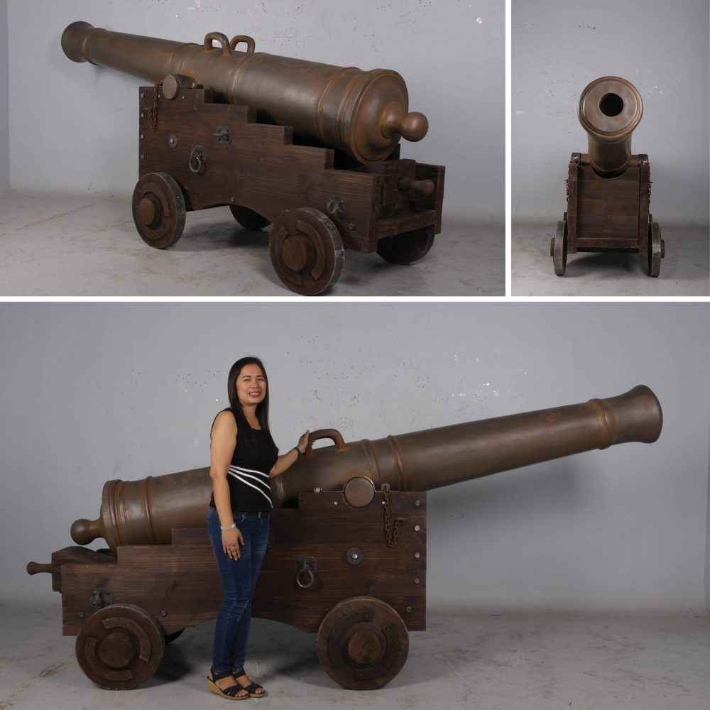 Cannon Carriage for Giant Seville cannon reproduction